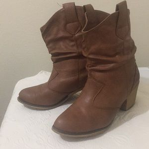 Brown ankle boots in great condition
